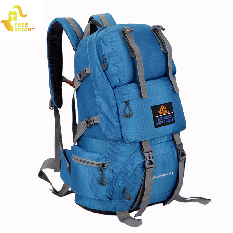 Free Knight 50L Sports Bag Nylon Waterproof Hiking Backpacks Outdoor Climbing Bag Camping Travel Backpack Man's Backpack Women стоимость