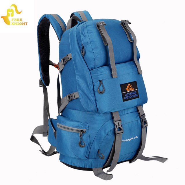 ccec7b23eaef Free Knight 50L Sports Bag Nylon Waterproof Hiking Backpacks Outdoor  Climbing Bag Camping Travel Backpack Man s Backpack Women