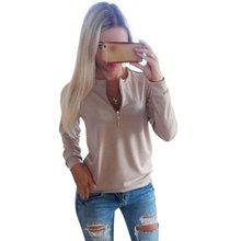 Pekný dámský svetřík s výstřihem na zip