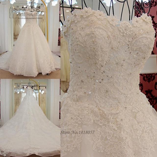 Korean Princess Wedding Dress Plus Size Lace Wedding Gowns Long ...