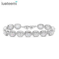 Top Quality Ogival Shape Zircon Stone Tiny Cubic Zirconia Around White Gold Plated Bracelet For Women