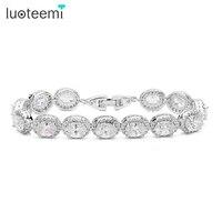 Top Quality Ogival Shape Zircon Stone Tiny Cubic Zirconia Around White Gold Plated Bracelet For Women