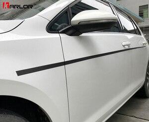 Paar Deur Side Riem Lijn Spatbord Lichaam Koolstofvezel Film Stickers En Decals Auto-Styling Voor Volkswagen VW Golf 7 MK7 accessoires