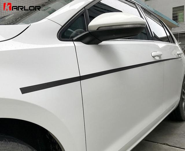 Paar Tür Seitenband Linie Fender Body Carbon Film Aufkleber Und Abziehbilder Auto Styling Für Volkswagen Vw Golf 7 Mk7 Zubehör