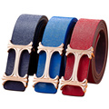 Nuevo 2016 de Lujo Smooth Hebilla Marca Mujeres Cinturón Cinturones de Moda de Las Mujeres Ocasionales Del Todo-Fósforo Cinturones de Diseño Para La Mujer