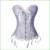 Venta caliente Mujeres Tops Bustier Cintura Trainer blanco hueso de acero del corsé de overbust corpete corselet steampunk corsé Atractivo más tamaño