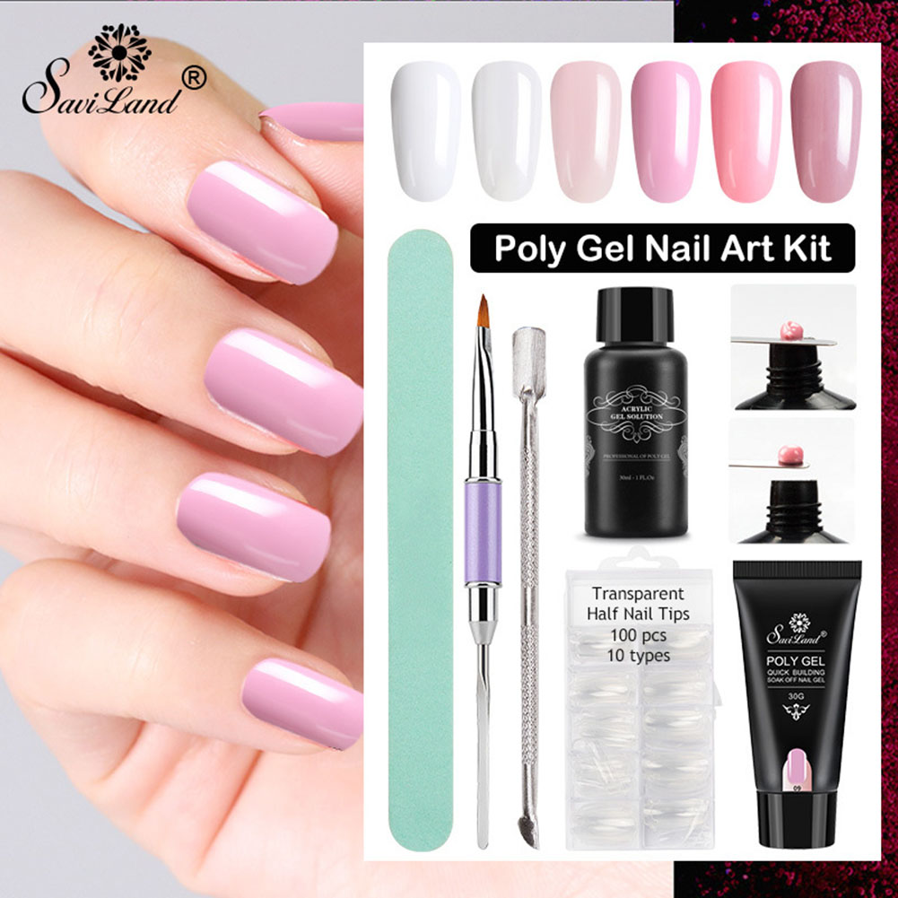 Poly Gel Nail Art Kit Nail Extension Hard Gel UV LED
