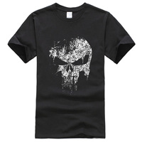 2017 Hip Hop Punisher Skull Supper Hero Streetwear Cotton T Shirts Men Top Funny T Shirt