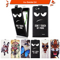 High quality fashion cartoon pattern flip up and down leather case for Oukitel C4,Free gift