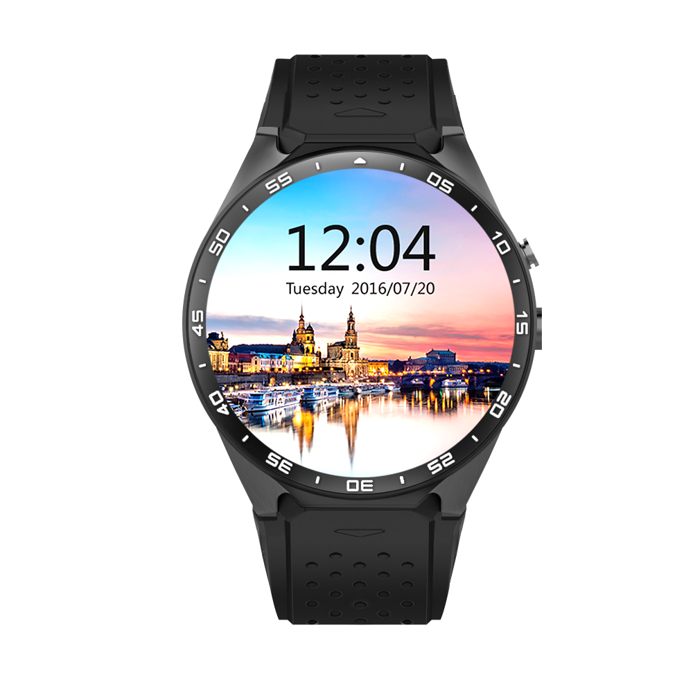 KW88 Smart Watch Quad-Core Android 5.1 Intelligent Clock 400*400 Smartwatch Wifi Bluetooth 4.0 Wristwatch Heartrate 2.0MP Camera