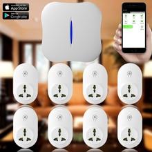 Chuangkesafe W1 WiFi PSTN Sistema de Alarma Antirrobo 8x WIFI Socket Inteligente Para El Hogar aparato eléctrico