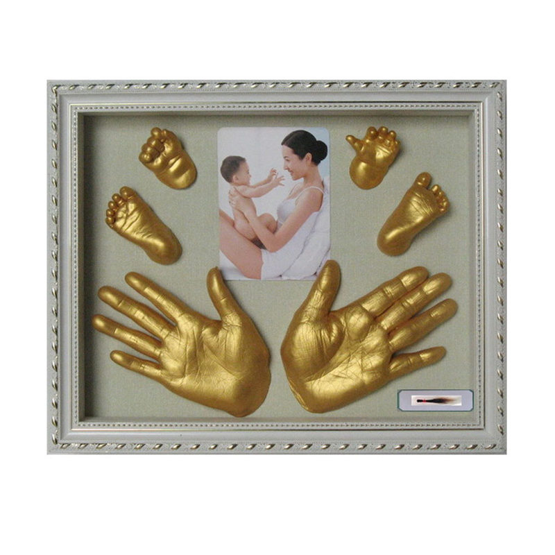 2018 3D Plaster Handprint Footprint Baby Mould Hand&Foot Casting Prints Kit Cast Gift Katana Bedroom Decor Room Decoration ...