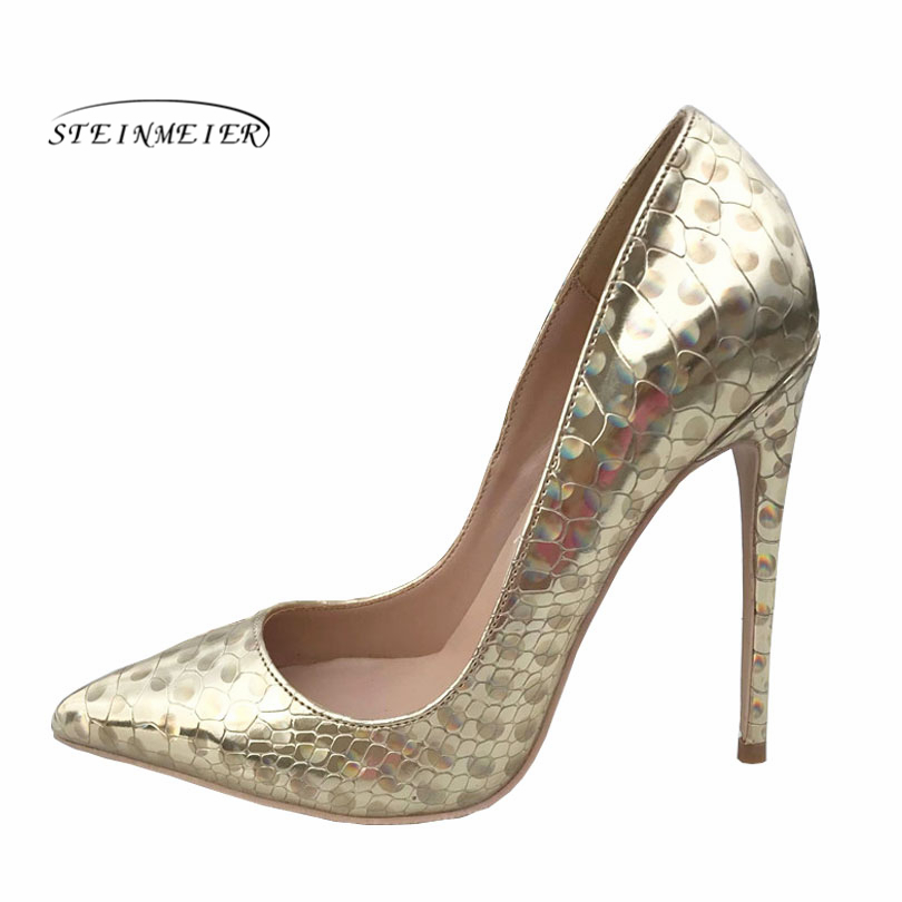 все цены на 2019 women pumps high heels Wedding Party Shoes gold High Heel Sexy Spring Women Shoes Pointed Toe Women Pumps