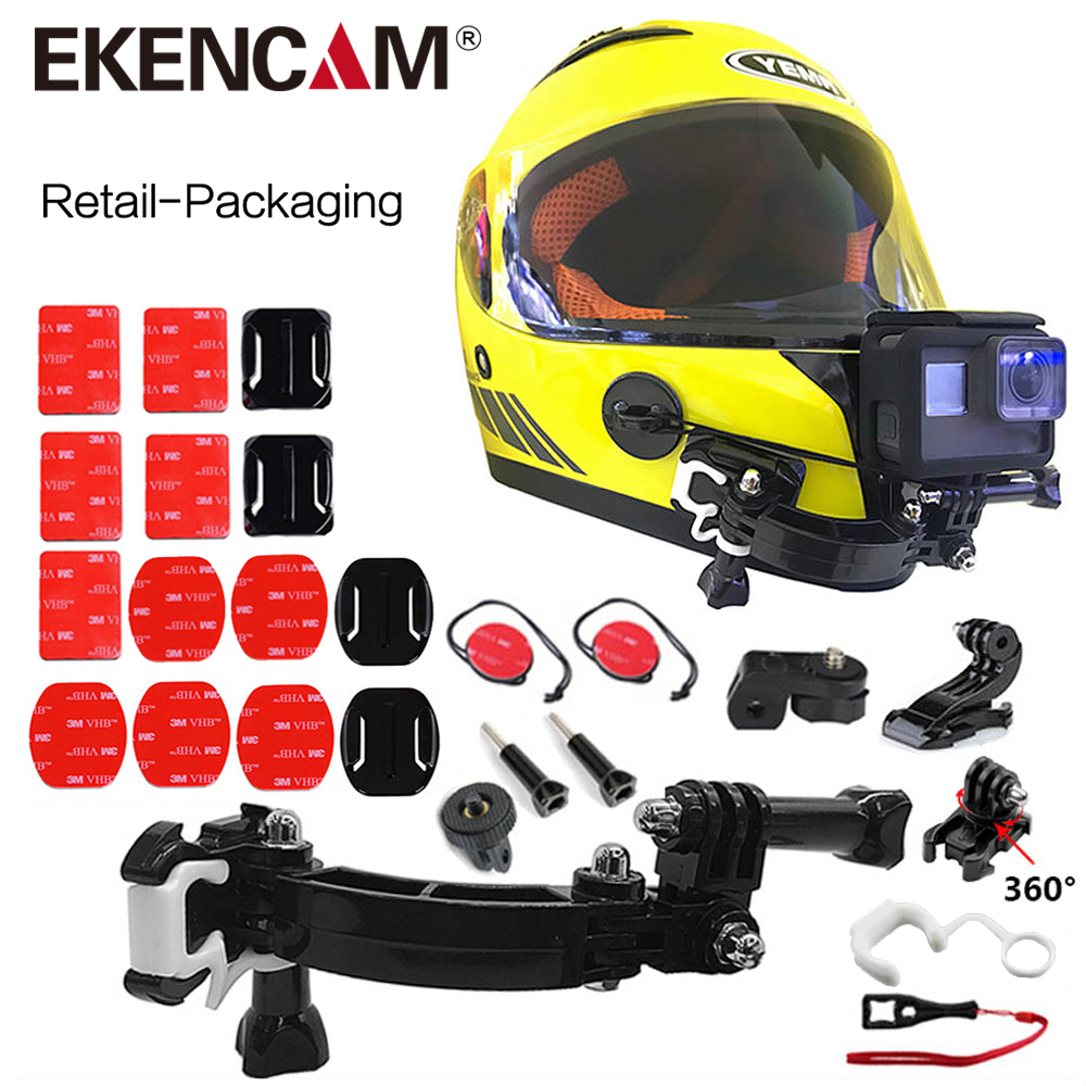 helmkamera zubeh r f r gopro motorrad helm halterung. Black Bedroom Furniture Sets. Home Design Ideas