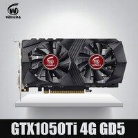 Veineda Video Card GTX1050Ti 4GB 128Bit 1290 7000MHz Graphics Card For NVIDIA Geforce Games