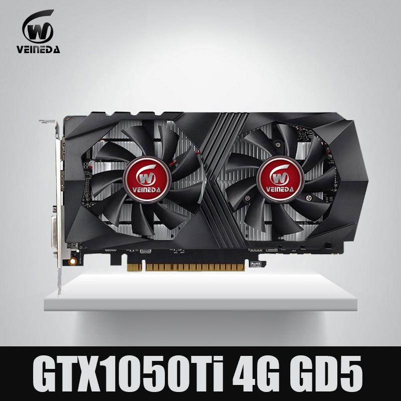 Veineda Vidéo Carte GTX1050Ti 4 gb 128Bit 1290/7000 mhz Carte Graphique pour nVIDIA Geforce Jeux