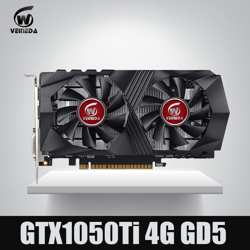 Veineda Video Card GTX1050Ti 4GB 128Bit 1290/7000MHz Graphics Card for nVIDIA Geforce Games цена и фото