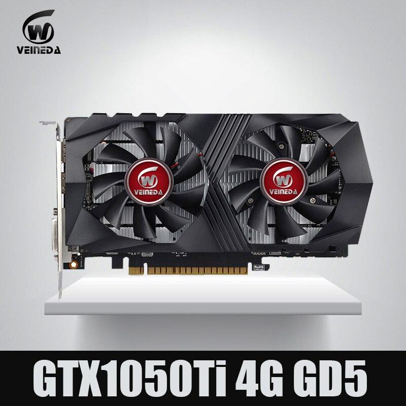 Veineda tarjeta de vídeo GTX1050Ti 4 GB 128Bit 1290/7000 MHz tarjeta de gráficos nVIDIA Geforce juegos
