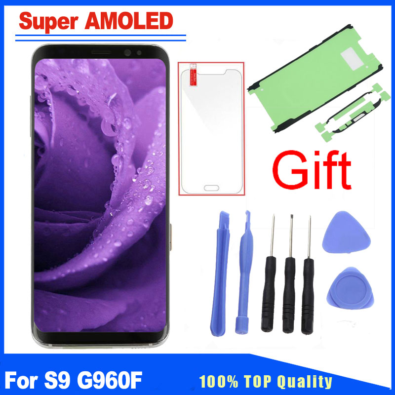 Super AMOLED Replacement For Samsung Galaxy S9 SM-G960F G960 LCD Display Touch Screen Digitizer With Frame Full AssemblySuper AMOLED Replacement For Samsung Galaxy S9 SM-G960F G960 LCD Display Touch Screen Digitizer With Frame Full Assembly