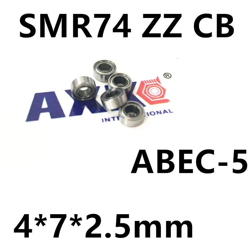 Free Shipping SMR74 ZZ CB ABEC7 4x7x2.5mm smr74zz SI3N4 Balls hybrid ceramic Stainless steel rings ball bearing (2pcs/lot) stainless steel hybrid ceramic ball bearing smr84 2rs cb abec7 4x8x3mm
