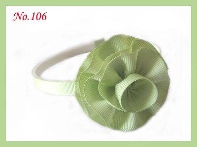 """18 шт., повязка на голову для девочек, аксессуары, 2,"""" бант для волос+ ленточный цветок"""