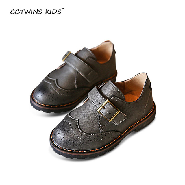 CCTWINS KIDS spring autumn baby girl fashion oxford flats for children black genuine leather shoe boy brand casual shoe toddler