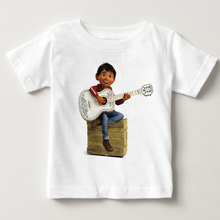 2018 Coco Pixar Skull Kids T Shirt Children T-shirt Boys Girls Summer Tops Tees Cartoon Movie Toddler Baby Clothes MJ