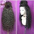 7А Лучших Малайзии глубокие фигурные парики 100 человеческих волос волнистые кружева перед парик для чернокожих женщин gueless полный шнурок перед парики с волосами младенца