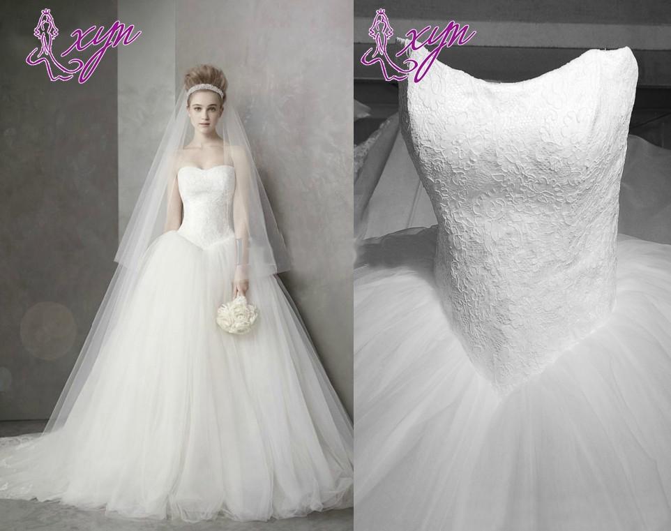 New Princess Real Image Bandage Ball Gown Wedding Dresses