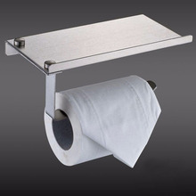Stainless Steel Toilet Paper Holder Bathroom Toilet Roll Holder Porta Papel Higienico Wc Tissue Hold with Phone Shelf