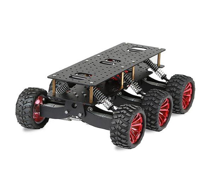 6WD search rescue platform smart car chassis damping off-road climbing raspberry pie can extend the robot arm WIFI cart the rescue