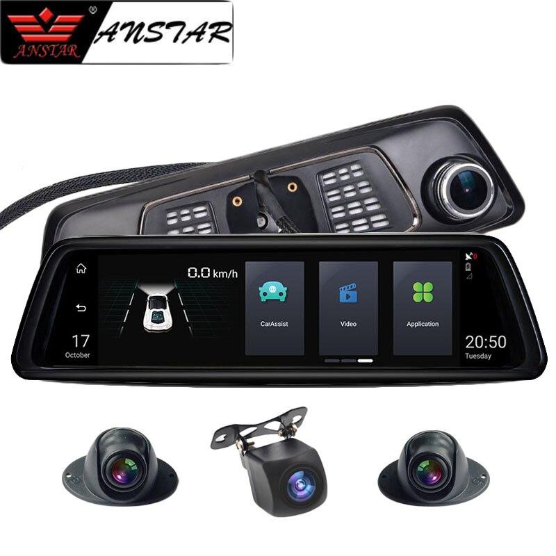 Anstar 10 4G Rearview Mirror Car DVR 2 32GB 4CH Cameras Android 5 1 Video Recorder