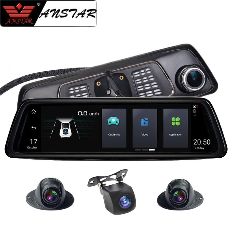 Anstar 10 4G Rearview Mirror Car DVR 2+32GB 4CH Cameras Android 5.1 Octa Core Video Recorder ADAS GPS Auto Registrar Dash CamAnstar 10 4G Rearview Mirror Car DVR 2+32GB 4CH Cameras Android 5.1 Octa Core Video Recorder ADAS GPS Auto Registrar Dash Cam