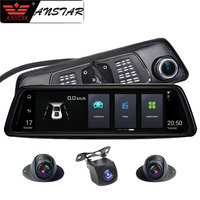 Anstar 10 4G Rearview Mirror Car DVR 2+32GB 4CH Cameras Android 5.1 Octa Core Video Recorder ADAS GPS Auto Registrar Dash Cam