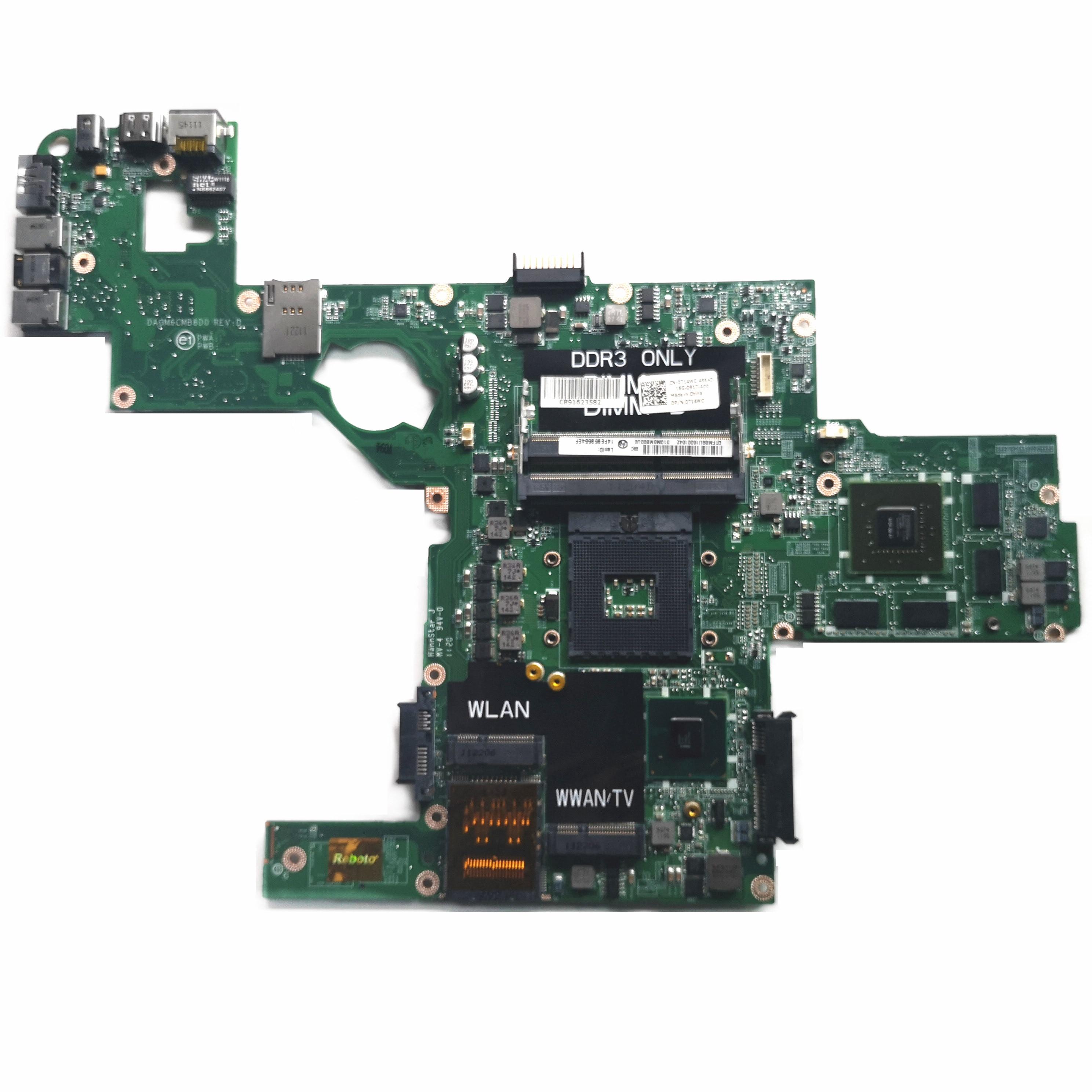 Reboto CN-0714WC 0714WC 714WC для DELL XPS L502X материнская плата для ноутбука GT540 2GB DAGM6CMB8D0 HM67 100% проверенная Быстрая доставка