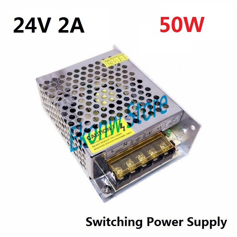 50W 24V 2A Switching Power Supply Factory Outlet SMPS Driver AC110-220V to DC24V Transformer for LED Strip Light Module Display best quality 12v 15a 180w switching power supply driver for led strip ac 100 240v input to dc 12v