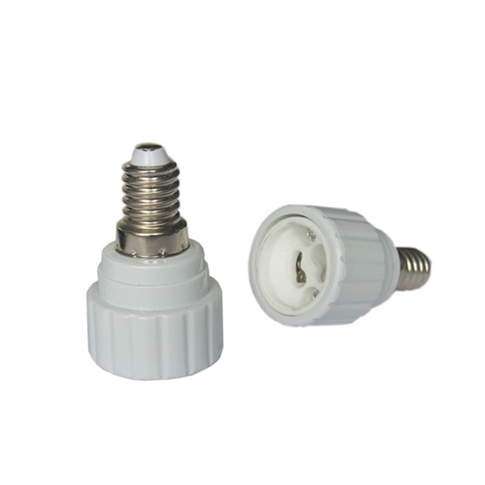 E14 to GU10 Base LED Halogen Light Lamp Bulb Adapter Converter Base Socket