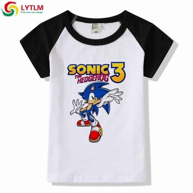 1419baedc LYTLM Modis Children Cartoon Print Sonic The Hedgehog Funny T Shirts Kids  Baby Boy T Shirt Girls Tops Kids Summer Casual Clothes