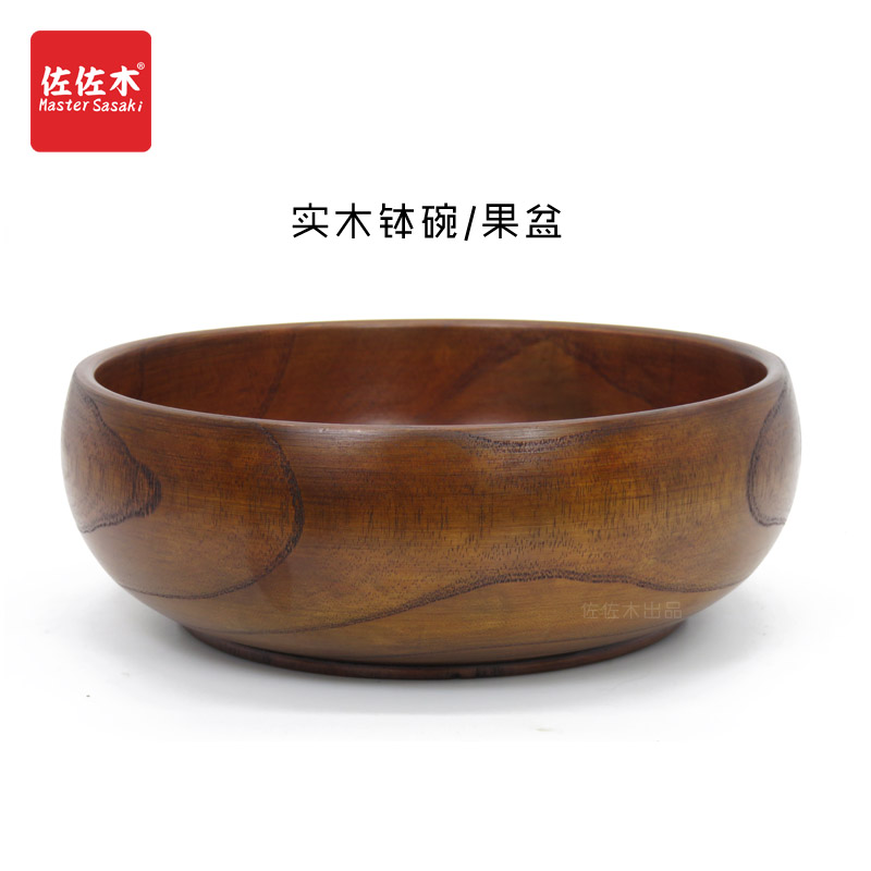Direct sale of factories chinese/asian/japanese east style Large size Rice/Noodles/Sushi/Food/Sugar/Soup/Fruits wood bowl18-23cm