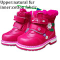 Cute 1 pair plus velvet Snow Boots Children girl shoes, female child cartoon Shoes, thermal sports Fashion Kid Sneakers