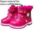 Lindo 1 par más Nieve de terciopelo Botas de Los Niños zapatos de niña, Zapatos de niña de dibujos animados, deportes térmicas de Moda Zapatillas de Deporte Del Cabrito