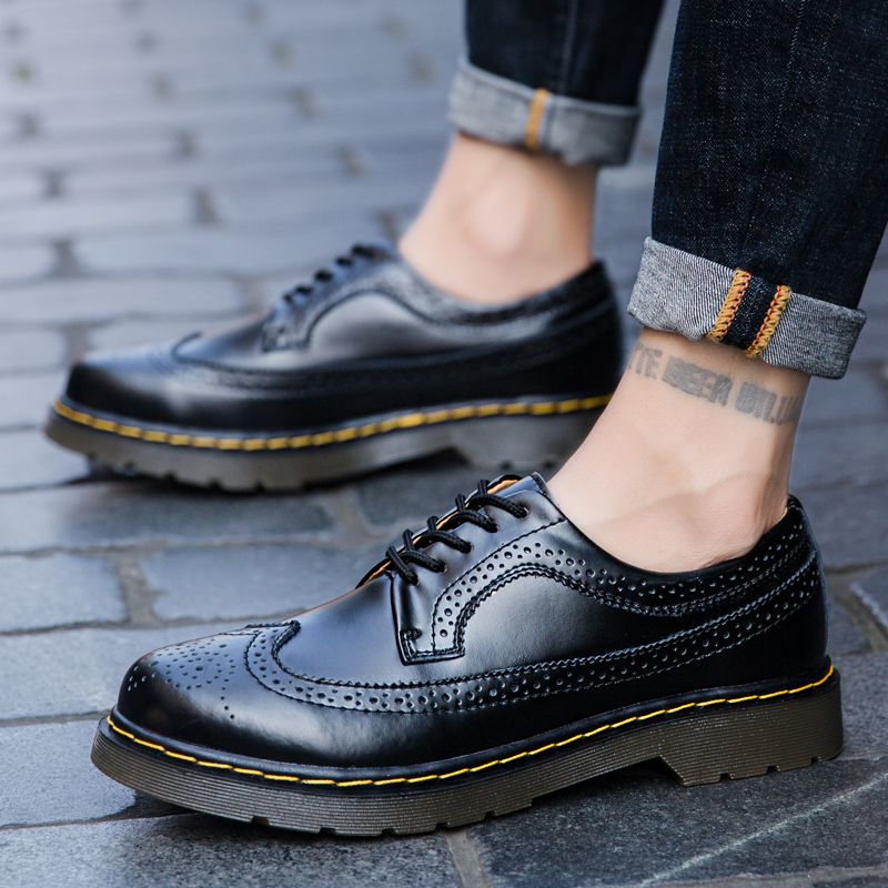 35-46 New Big Size Brand Genuine Leather Men Shoes Spring Oxford Shoes Fashion Casual Designer Male Shoes Leather Moccasins