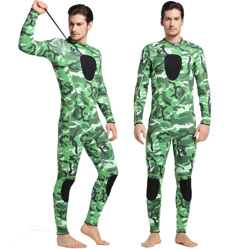 Sea Style 3mm Neoprene Wetsuit Diving Suit Swimwear Winter Swim Long Sleeve One-piece Swimsuits Thick Shirt Jacket Surfing Wear