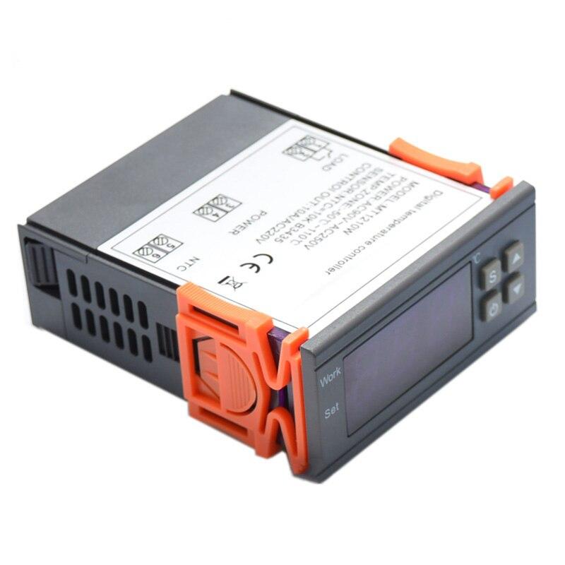 220 v thermostat régulateur de température régulateur station météo thermorégulateur température capteur numérique thermomètre compteur