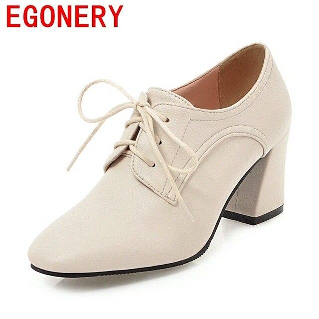 EGONERY las mujeres de buena calidad zapatos de tacones altos zapatos  casuales zapatos de señoras de la Oficina de primavera y otoño de gran  tamaño nuevo ... f55186e5d733