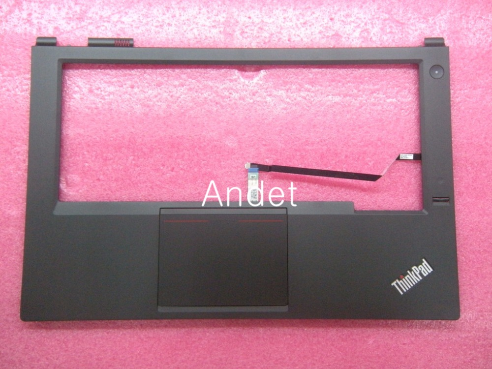 New Original for Lenovo ThinkPad T440P Palmrest Keyboard Bezel Cover Upper Case with Touchpad + Fingerprint Reader 04X5394 lenovo thinkpad t530 t530i w530 palmrest keyboard bezel upper case cover with touchpad fingerprint cs 04w6733 04w6821 04x4610