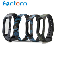 Fentorn Strap For Mi Band 2 Blue / Black / Green Camouflage Bracelet Band For MiBand 2 Wristband Replacement