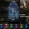 Lámpara de Mesa Lámpara de Luces de la noche 3D Star Wars niños nightlight Usb llevó la Lámpara de estado de Ánimo de la Ilusión Visual Led Night Lights Lamparas 3D
