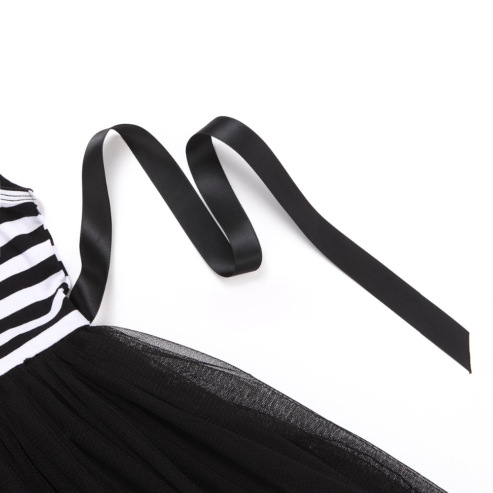 HTB1cGg0QVXXXXbeXpXXq6xXFXXXz - Baby Girls Dress 2017 Summer Casual Striped Princess Dresses sleeveless Black and White Stripes Mesh Dress Children Clothing