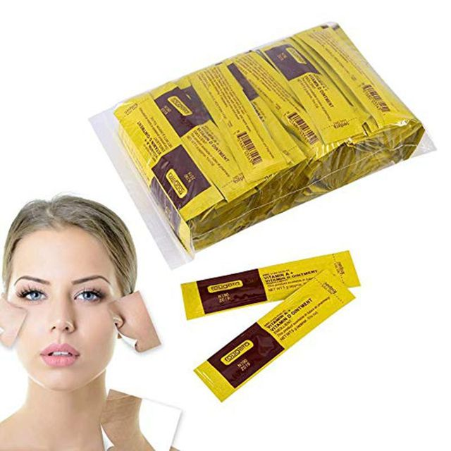 Tattoo Aftercare Cream, 25/35/50/100Pcs/Set Professional Tattoo Makeup Aftercare Repair Healing Cream Vitamin Ointme Supplies